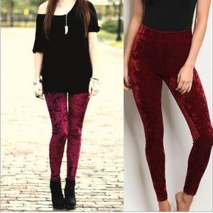 Pants - Best seller ⭐️Burgundy soft velvet - Legging